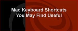 Image Mac keyboard shortcuts